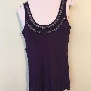 Purple gem tank top